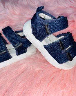Sandalia azul niño ajustable, incluye velcro, preciosa para el verano, queda bien con todo, babydaiashop