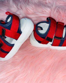Sandalias niño rojas, sandalias niño rojo, sandalias bebe rojas, sandalias niño color rojo, sandalias con velcro para niños, sandalias ajustables, babydaiashop