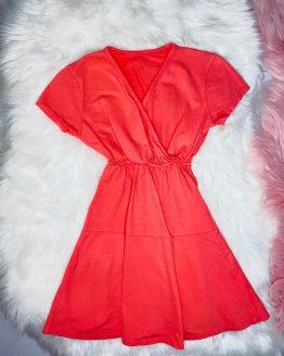 vestido veraniego color coral perfecto para el verano, muy fresquito de la pagina babydaiashop