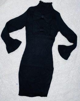 Vestido lazo negro, es de tuvo y cuello alto, con volantes en las mangas, queda ajustado al cuerpo. Tallas pares. Puedes combinarlo con los botines brillo o el chaleco de pelo disponibles en nuestra pagina web. BABYDAIASHOP , ARTICULOS PARA BEBES Y NIÑOS , COMPRA ONLINE , ONLINE .