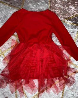Vestido rojo de lentejuelas , con lentejuelas en el pecho , la falda es de doble forro , no se transparenta nada. Tallas 4 a 14 años , (Tallas pares). compra online . artículos para bebes y niños . babydaiashop
