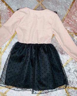 Vestidos puntos rosa pastel , con falda pomposa de tull con doble forro , no se transparenta nada. Tallas 4 a 14 años , (Tallas pares). babydaiashop . compra online . artículos para bebes y niños.