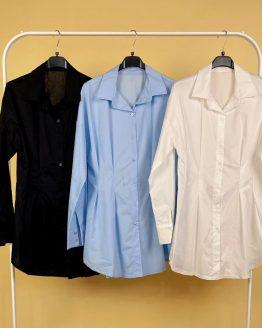 Camisa / vestido blanca , con mangas abollonadas. Tallas S / M , (dan bastante talla ambas , la M podría dar para una L). Disponible también en azul o blanca. babydaiashop . compra online . artículos para mujer y niños.