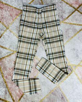 Malla con estampado de cuadros color beige , con cintura engomada , de tiro alto. Tallas S/M/L (Desde 32/34 hasta 38/40) Disponible tambien en color rosa. babydaiashop . compra online . articulos para mujer y niños.