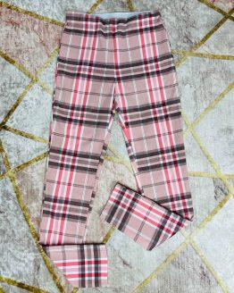 Malla con estampado de cuadros color rosa, con cintura engomada , de tiro alto. Tallas S/M/L (Desde 32/34 hasta 38/40) Disponible tambien en color beige. babydaiashop . compra online . articulos para mujer y niños.