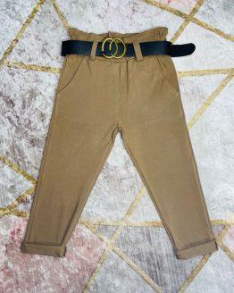 Pantalón camel con cinturón gucci incluido , con bolsillos ( es elástico ). Tallas 4 a 14 años (Tallas pares).